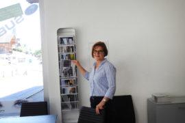 In der Ausstellung berät Sie Anna Müller persönlich