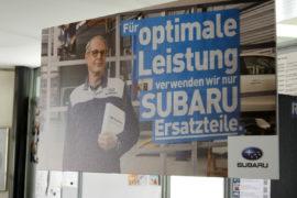Wir verwenden original Subaru Ersatzteile